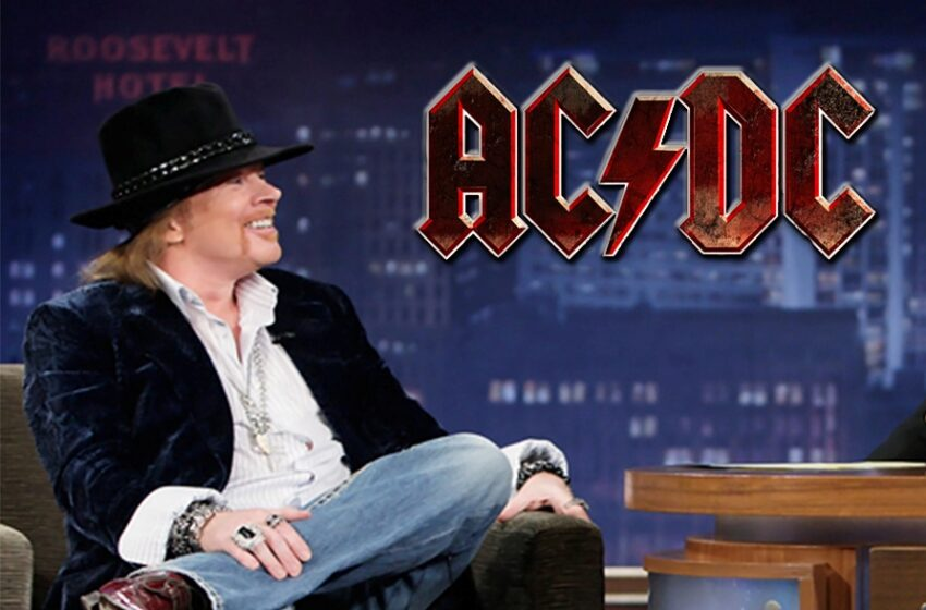 Axl Rose explica como virou vocalista do AC/DC