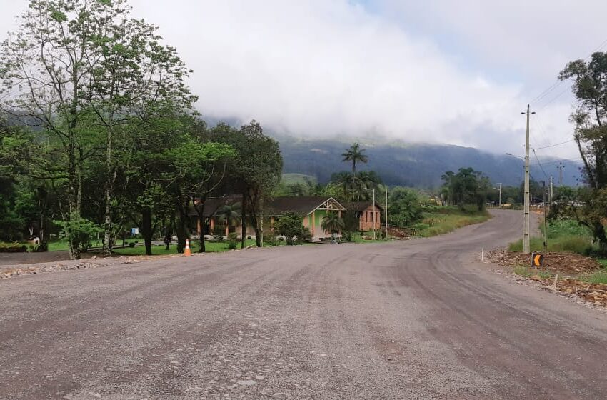 Obras na Serra da Rocinha no lado catarinense pouco mais de 40% estão concluídas