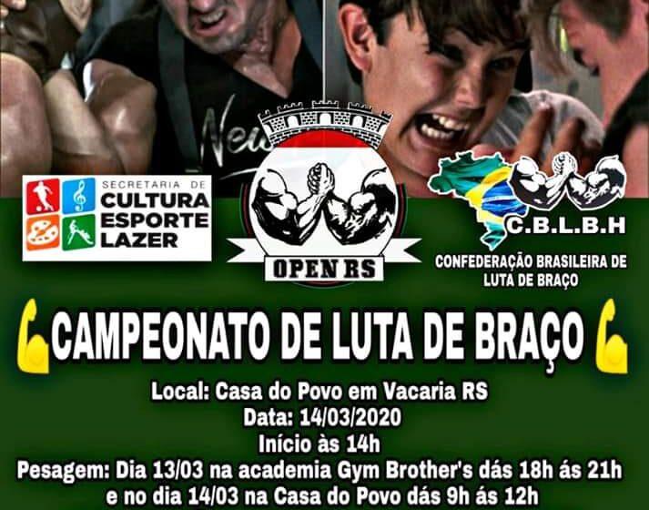2º Campeonato de Luta de Braço