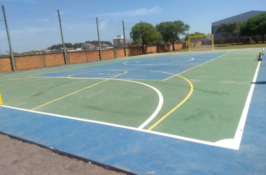 Inaugurada quadra de esportes do Jardim América
