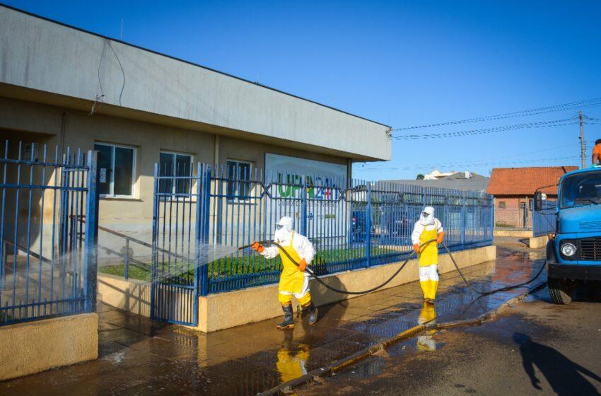 Prefeitura inicia higienização de vários pontos da cidade
