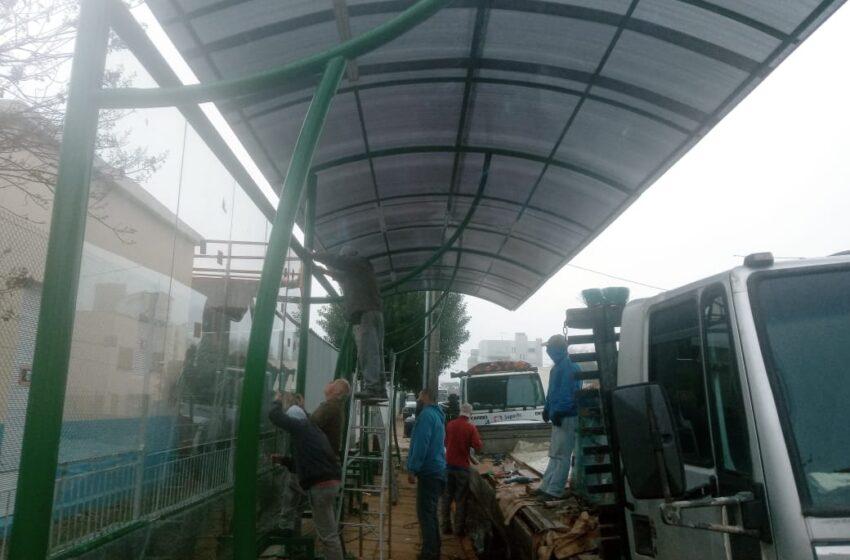 Mais duas paradas de ônibus construídas em Vacaria