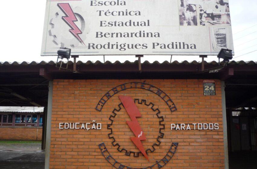 Obras de cercamento da Escola Bernardina Padilha ainda não terminaram
