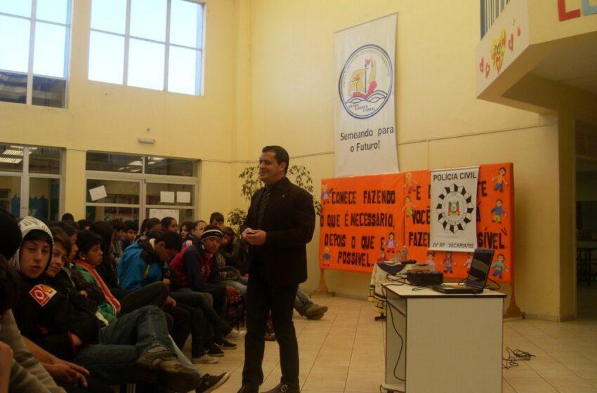 Polícia Civil ministrou palestra para mais de 200 alunos na Escola Pedro Álvares Cabral