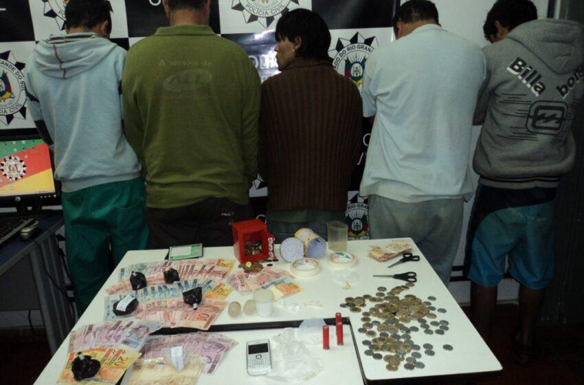 Polícia Civil prende mais cinco traficantes em Vacaria