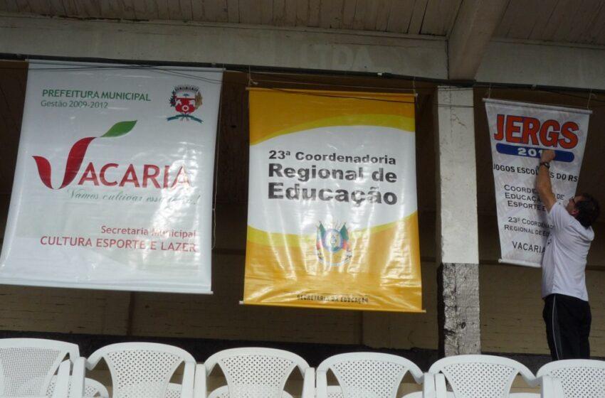 Inicia em Vacaria a Fase Regional dos Jergs/2013 – Cerimônia de Abertura será a tarde