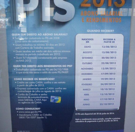 PIS: Nascidos em Julho recebem a partir do dia 13
