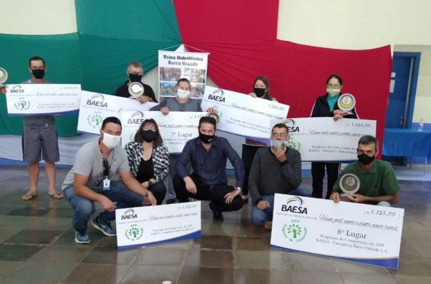 Produtores rurais premiados no Programa de Conservação do Meio Ambiente