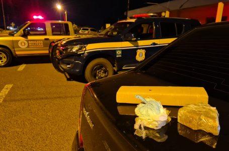 PRF e Brigada Militar prendem casal de traficantes em Vacaria