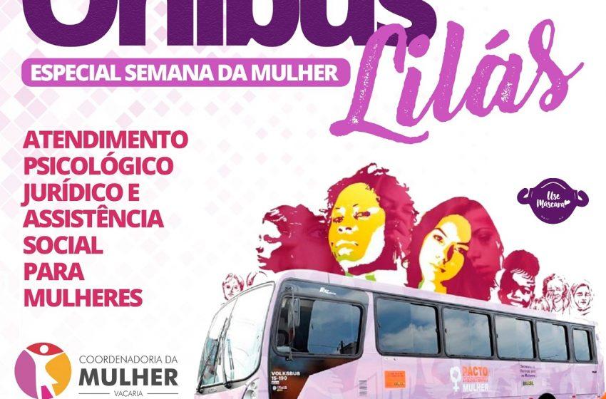 Ônibus Lilás visita Vacaria