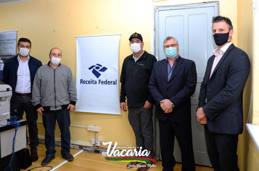 Inaugurado posto da Receita Federal em Vacaria